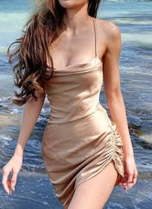 Sukienka Sandbella na ramiączkach dopasowana mini