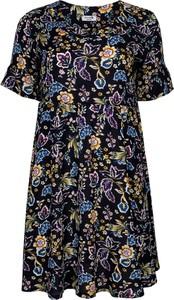 Sukienka Grandio z krótkim rękawem z tkaniny