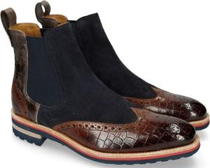 Brązowe buty zimowe Melvin & Hamilton z weluru