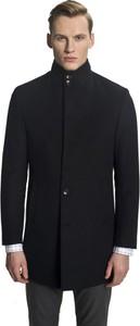 Czarny płaszcz męski Recman