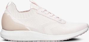 Buty sportowe Tamaris sznurowane w sportowym stylu ze skóry