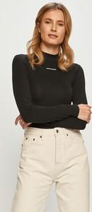 Bluzka Calvin Klein w stylu casual z okrągłym dekoltem z bawełny