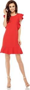 Czerwona sukienka Lemoniade mini z okrągłym dekoltem z krótkim rękawem