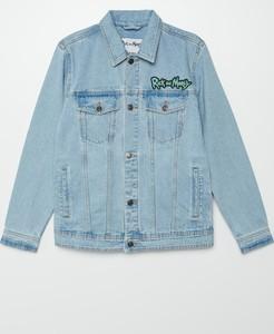 Niebieska kurtka Cropp z jeansu w młodzieżowym stylu krótka