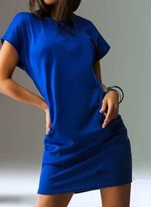 Sukienka Sandbella z okrągłym dekoltem prosta z dresówki