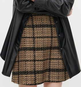 Brązowa spódnica Reserved mini