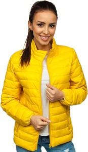 Żółta kurtka Denley w bożonarodzeniowy wzór w stylu casual