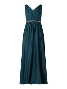 Zielona sukienka Christian Berg Cocktail bez rękawów z dekoltem w kształcie litery v