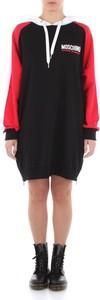 Czarna sukienka Moschino w stylu casual z długim rękawem