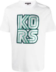 T-shirt Michael Kors w młodzieżowym stylu z bawełny z krótkim rękawem