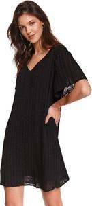 Sukienka Top Secret z krótkim rękawem z dekoltem w kształcie litery v mini