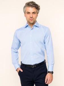 Niebieska koszula Eton z długim rękawem