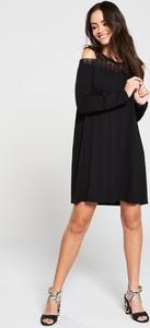 Czarna sukienka V by Very z golfem