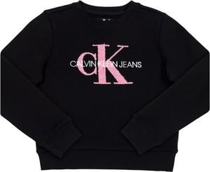 Czarna bluza dziecięca Calvin Klein z jeansu