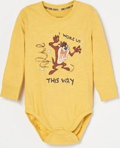 Żółte body niemowlęce Reserved