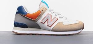 Buty sportowe New Balance z nubuku sznurowane
