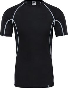 Czarny t-shirt The North Face w sportowym stylu z krótkim rękawem
