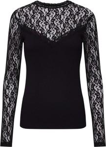 Czarna bluzka Sister'S Point z długim rękawem z okrągłym dekoltem
