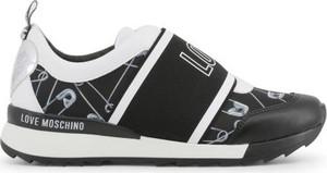 Czarne buty sportowe Love Moschino z płaską podeszwą