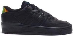 Czarne buty sportowe Adidas Originals sznurowane z płaską podeszwą