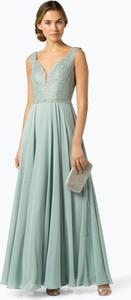 Niebieska sukienka Luxuar Fashion bez rękawów maxi z dekoltem w kształcie litery v