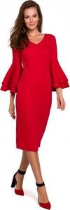 Sukienka Makover midi z bawełny