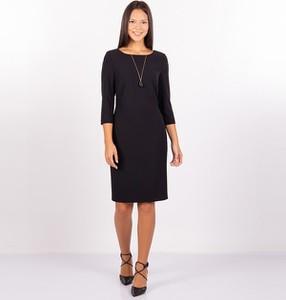 Czarna sukienka MEXX midi z okrągłym dekoltem