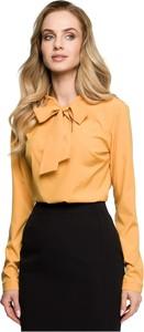 Żółta bluzka Style z długim rękawem