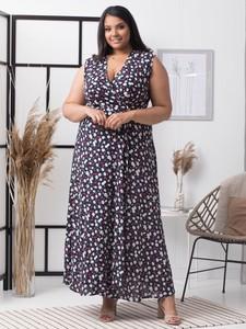 Sukienka KARKO z tkaniny bez rękawów