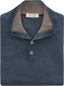 Niebieski sweter Gran Sasso w stylu casual z dżerseju