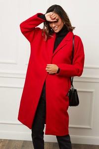 Czerwony płaszcz Le Comptoir Du Manteau w stylu casual