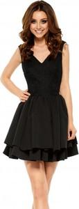 Czarna sukienka Lemoniade gorsetowa z dekoltem w kształcie litery v