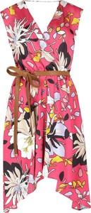 Sukienka Liu-Jo z dekoltem w kształcie litery v bez rękawów mini