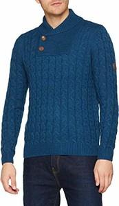 Niebieski sweter Spagnolo w stylu casual