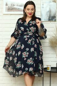 Sukienka KARKO z szyfonu z długim rękawem