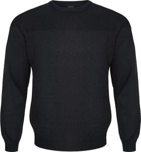 Czarny sweter M. Lasota z okrągłym dekoltem w stylu casual