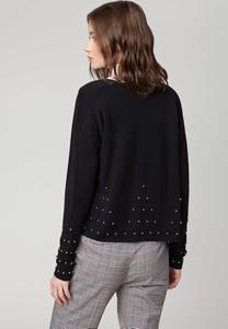 Czarny sweter Solar w stylu casual