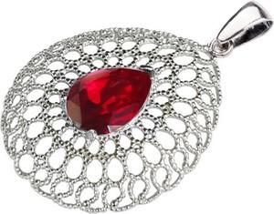 c601c8a28f3f9f Polcarat Design Srebrny wisiorek z kryształem Swarovski W 2025 : Kolor -  Siam