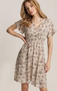 Sukienka Renee trapezowa mini z dekoltem w kształcie litery v