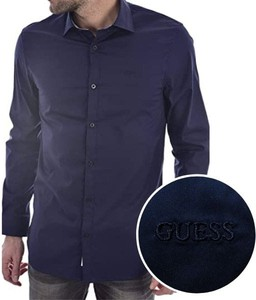 Koszula Guess z długim rękawem z klasycznym kołnierzykiem