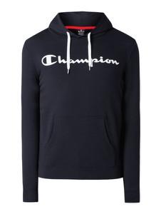 Granatowa bluza Champion z bawełny z nadrukiem