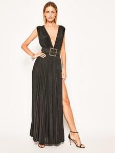 Sukienka Elisabetta Franchi maxi z dekoltem w kształcie litery v bez rękawów