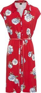 Czerwona sukienka bonprix BODYFLIRT w stylu casual z dżerseju