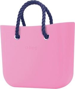 Różowa torebka O Bag do ręki matowa duża