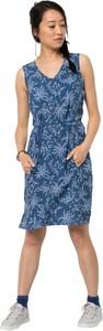 Niebieska sukienka Jack Wolfskin z tkaniny