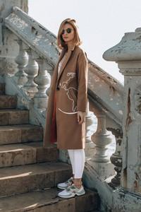 Naoko Klasyczny płaszcz Destination Unknown Camel S