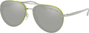 Srebrne okulary damskie Michael Kors w stylu retro