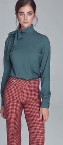 Zielona bluzka Nife ze sznurowanym dekoltem