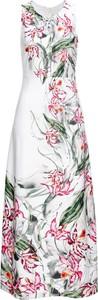 Sukienka bonprix BODYFLIRT boutique z żabotem trapezowa bez rękawów