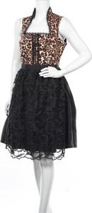 Czarna sukienka Mondkini z okrągłym dekoltem bez rękawów mini
